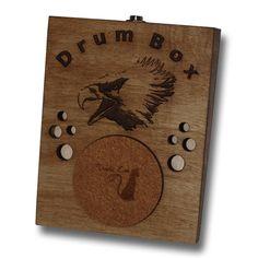 Eagle Stompbox Rhythm Foot Drum Stomp box Cigar Box Guitar on Etsy, $34.03 AUD