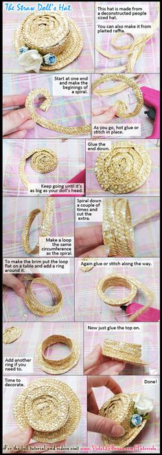 How To Make A Dolls Straw Boater Hat by ~VioletLeBeaux on deviantART