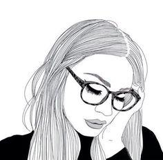 Resultado de imagen para dibujos de chicas tumblr a lapiz