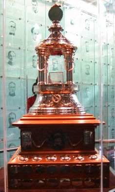 The Vezina Trophey, given to the most outstanding Goalie in the NHL every year.  Gets my vote for the prettiest trophy in the game!