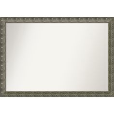Wall Mirror Choose Your Custom Size - Extra Large, Barcelona Champagne (Beige) Wood (Outer Size: 44 x 32-inch)