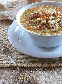 Zuppa d'orzo alla trentina / Barley soup from trentino