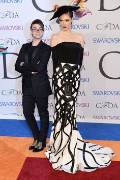 Pin for Later: Can You Handle All the Fashion on the CFDA Awards Red Carpet? Coco Rocha at the 2014 CFDA Awards Coco Rocha in Christian Siriano, with the designer (left), at the CFDA Awards.