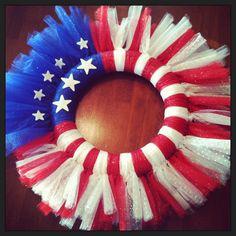Super easy tulle wreath!