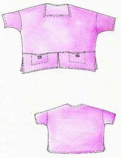 Lagenlook, Einzel - Schnittmuster, Shirt Peru