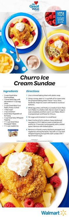 Why can t we adults enjoy ice cream sundaes also This is a delectable treat full of big and bold fl Why can t we adults enjoy ice cream sundaes also This is a delectable treat full of big and bold fl nbsp hellip sans friture Churro Ice Cream, Sundae Recipes, Ice Cream Desserts, Summer Desserts, Churros, Saveur, Frozen Treats, Desert Recipes, Yummy Recipes