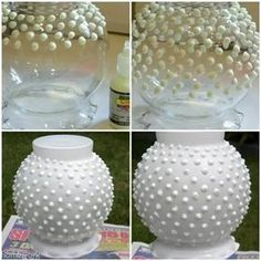 Insanely Cool Uses For Puffy Paint You're KIDDING me! I used to get bored of these vases. 12 Insanely Cool Uses For Puffy PaintYou're KIDDING me! I used to get bored of these vases. 12 Insanely Cool Uses For Puffy Paint Diy Projects To Try, Crafts To Make, Fun Crafts, Craft Projects, Puffy Paint Crafts, Do It Yourself Inspiration, Creative Inspiration, White Spray Paint, Art Diy