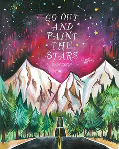 Paint The Stars Van Gogh Art Print by thewheatfield on Etsy