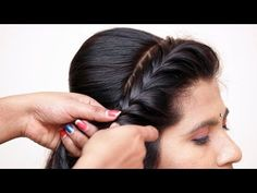 Beautiful messy bun with front puff hairstyle hair style gir Wedding Hairstyles For Girls, Party Hairstyles, Indian Hairstyles, Girl Hairstyles, Popular Hairstyles, Latest Hairstyles, Braided Hairstyles, Front Hair Styles, Medium Hair Styles