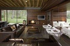 Vacation Home in Mexico. Contemporary cabin in the woods by Elias Rizo Arquitectos.