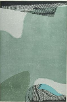 """Moss (Koke) No. 1 by Yoshida Masaji (1917-1971, Japan); woodcut, 1978, 17 3/4"""" x 11 9/16"""""""