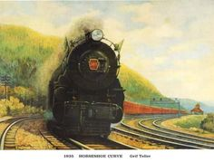 Hey, everyone knows that the Blair County tracks that make up the famous Horseshoe Curve is one of the best-known spots in Pennsylvania.   Cosidered one of the marvels of 19th century engineering, the Horseshoe Curve was designed by Edgar Thompson and built by the Pennsylvania Railroad. Later, it was used by the Penn Central and Conrail.   It's