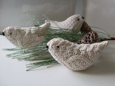 3 Aran Knitted Love Birds Collection by Rue23Paris on Etsy, $49.95