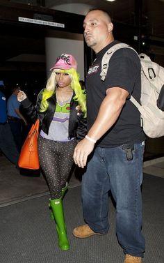 Nicki Minaj in a pair of Green Hunters