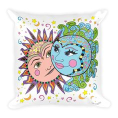 Solar Eclipse Throw Pillow - Phillip & Aurora - Path of Totality August 21, 2017