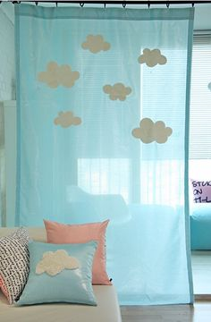 I unfortunately don't speak Korean, which I believe is what they speak on the site that the link will take you to, but I found this in someone else's pins, and I figure I could DIY it for my daughter's bedroom windows.