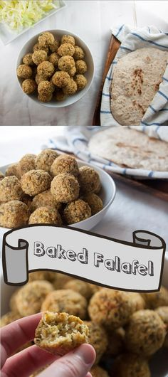 How to make a huge batch of oven-baked falafel. From Elephantastic Vegan. Vegan Foods, Vegan Dishes, Whole Food Recipes, Cooking Recipes, Baked Falafel, Falafel Recipe, Going Vegan, Vegetarian Recipes, Chickpea Flour Recipes