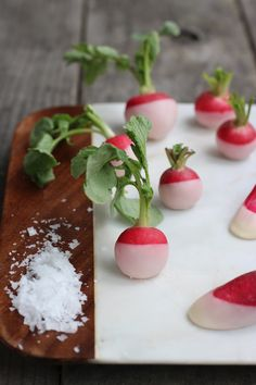 butter dipped radishes!