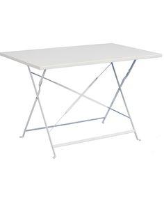 Τραπέζι Κήπου Μεταλλικό πτυσσόμενο Λευκό  1.10εκ
