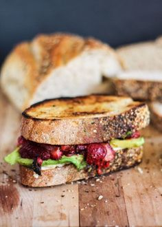Roasted Strawberry, Avocado Grilled Cheese! A delicious spring lunch.