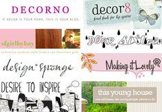 All fabulous blogs! Award winning blogs! Interior design etc.