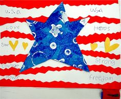 2nd grade Veteran's Day project.  Thanks to Mrs.Picasso's Blog for the idea.