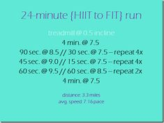 24 min HIIT, might actually be able to do this. Good idea. NM