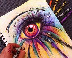 Bored art amazing drawings, beautiful drawings, amazing art, colorful d Amazing Drawings, Beautiful Drawings, Colorful Drawings, Amazing Art, Colourful Art, Beautiful Pictures, Awesome, Crayon Drawings, Crayon Art