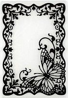 Hot off the Press - Embossing Folder - Butterfly Frame
