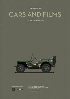 MASH car tv series poster, art print Cars And Films, home decor prints, car print, car poster Film Home, Car Posters, Car Drawings, Vintage Trucks, Car Pictures, Motor Car, Used Cars, Cool Cars, Tv Series