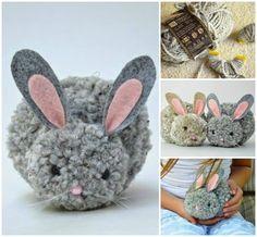DIY Easter Pom Pom Bunny Tutorial