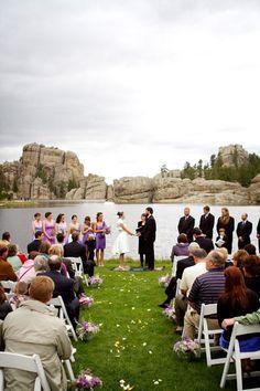 Perfect background to a perfect wedding Perfect Wedding, Dream Wedding, City Wedding Venues, Sylvan Lake, Rapid City, South Dakota, Wedding Photos, Wedding Ideas, Wedding Bells