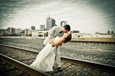 LOOOOOVE the #skyline with the #railroad tracks. Wonder if there is a good spot in CLT to do this...must ponder.