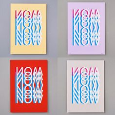 'NOW' limited edition prints, sold individually or buy the set!