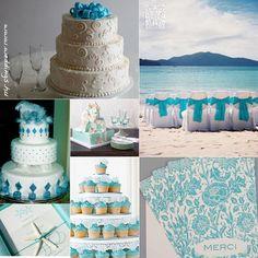 türkiz esküvői torták