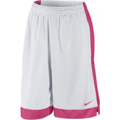 Some cool pink basketball shorts. Seriously these are the first ones ever for women. Now they just need some Pink Jordans! College Basketball Shorts, Basketball Games For Kids, I Love Basketball, Basketball Season, Basketball Tickets, Basketball Leagues, Athletic Outfits, Athletic Wear, Sport Outfits