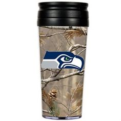 Seattle Seahawks Realtree Camo Travel Tumbler