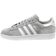 Adidas Campus Mens D70182 Grey Suede Athletic Shoes Casual Sneakers Size 11