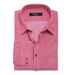 Red & White Stripe Dress Shirt