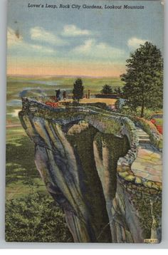 Vintage Postcard / Lookout Mt. Lover's Leap / Chattanooga, TN Lookout Mountain Tennessee, Places In America, Grand Ole Opry, Appalachian Mountains, Great Smoky Mountains, Graceland, Vintage Travel, Vintage Postcards, Vacation Spots
