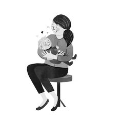 Baby Illustration, Illustrations, Mother And Child, Marie, New Baby Products, Mothers, Maternity, Children, Gifts