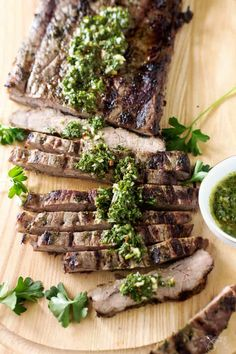 Juicy and delicious, this classic Argentine chimichurri steak is first marinated in flavorful and colorful chimichurri sauce then grilled to perfection that packs a ton of flavor. | allthatsjas.com | #steak #flanksteak #skirtsteak #BBQ #grilling #chicmichurri #sauce #pesto #easy #allthatsjas #glutenfree #holidaymeal #cookout #recipes #internationalfood #argentine #parsley #oregano #garlic #beef Recipe Using Cilantro, Skirt Steak Recipes, Marinated Flank Steak, Beef Sirloin, Chimichurri, International Recipes, Grilling Recipes, Holiday Recipes, A Food