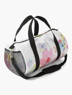 """""""Painting Flowers, Floral, Spring"""" Duffle Bag by artgame 