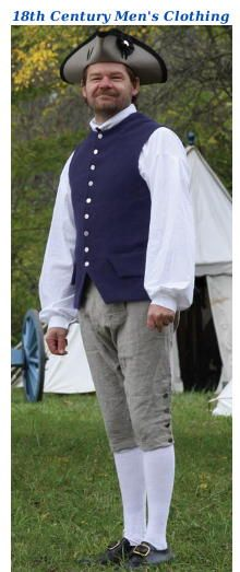 18th Century clothing from Jas Townsend  Son, Inc.