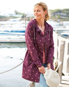 Cotton Traders Women's Showerproof Printed Jacket in Multi Casual Coats For Women, Jackets For Women, How To Make Light, Suits You, Outfit Of The Day, Raincoat, Feminine, Shirt Dress, Prints