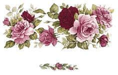 1 Pink Rose Flower Wrap Wraparound 7 X 3 Waterslide Ceramic Decal Bx Decoupage Vintage, Decoupage Paper, Victorian Flowers, Vintage Flowers, Pink Rose Flower, Flower Art, Decoupage Printables, How To Wrap Flowers, Flower Clipart