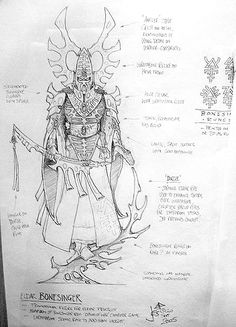 Eldar Wraithsinger (a Bonesinger reanimated in a Wraith construct)