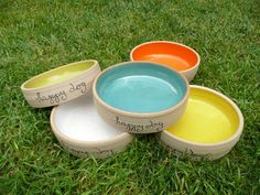 Personalized Dog Bowl Pet Bowl Dog bowl pottery by jclayPottery Pet Corner, Dog Water Bowls, Pet Bowls, Animal Logo, Happy Colors, Ceramic Bowls, Happy Dogs, Safe Food, Small Dogs