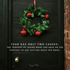 Fear has only two causes;  the thought of losing what you have or the thought of not getting what you want.  - Byron Katie