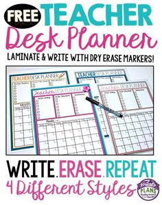 Use this FREE back to school desk organizer as a way to keep yourself organized. All you have to do is laminate the style you prefer, attach to your desk, and fill it in with a sharp dry erase marker! I keep a small board eraser nearby to erase the tasks I have completed.